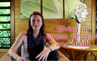 Giving up stress, struggle and strain