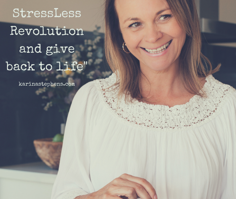 Let's start a StressLess Revolution and give back to life