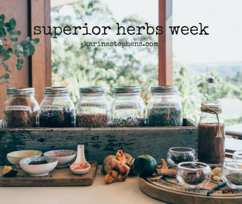 Kick start your stress defence shield with my #superiorherb WEEK!